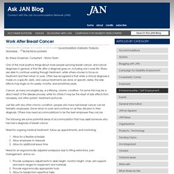 Work After Breast Cancer » JAN Blog