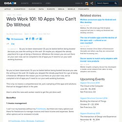 Archive Web Work 101: 10 Apps You Can't Do Without «