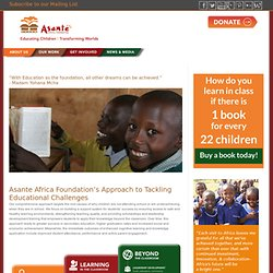 Asante: Our Work: East Africa - The Need