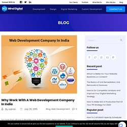 Why Work With A Web Development Company In India