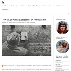 How to get Work Experience in Photography