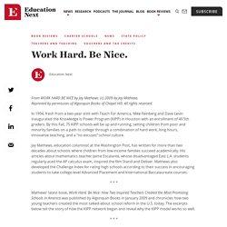 Work Hard. Be Nice. - Education Next