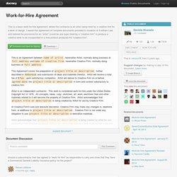 Work-for-Hire Agreement