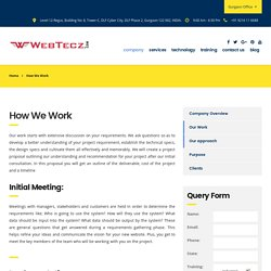 How we Work - Project Development Steps