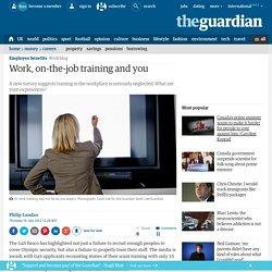Work, on-the-job training and you