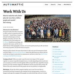 Jobs « Automattic