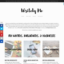 Work With Us — Writely Me