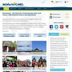 Work and Travel mit workaway.info - die Seite für Gastgeber und Reisende