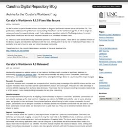 Curator's Workbench at Carolina Digital Repository Blog