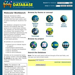 Molecular Workbench - Database