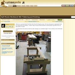Split Roubo Workbench #24: Flattening and finishing - by lysdexic