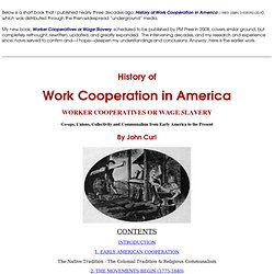 Worker Cooperatives