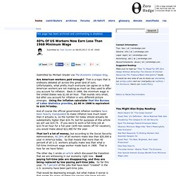 40% Of US Workers Now Earn Less Than 1968 Minimum Wage