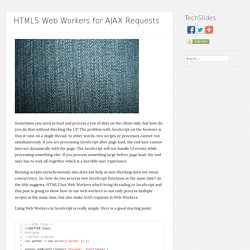 HTML5 Web Workers for AJAX Requests