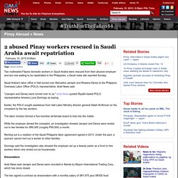 2 abused Pinay workers rescued in Saudi Arabia await repatriation