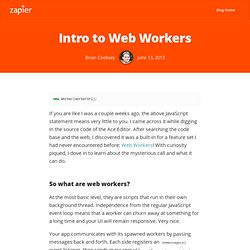 Intro to Web Workers
