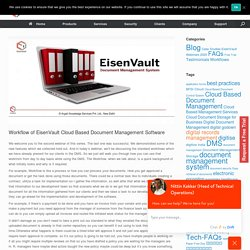 Workflow of EisenVault Cloud Based Document Management Software