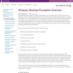 Windows Workflow Foundation Overview