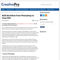 RGB Workflow From Photoshop to Final PDF