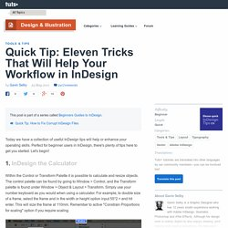 Eleven Tricks That Will Help Your Workflow in InDesign
