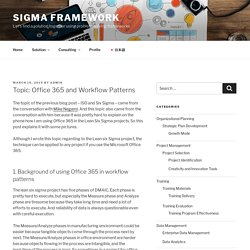 Topic: Office 365 and Workflow Patterns – Sigma Framework