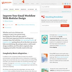 Improve Your Email Workflow With Modular Design