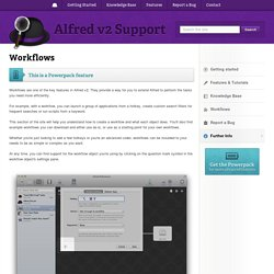 Workflows - Alfred v2 Support