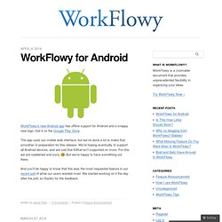 WorkFlowy Blog - Organize your brain.