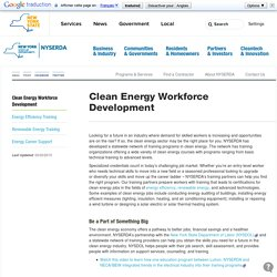 Clean Energy Workforce Development - NYSERDA