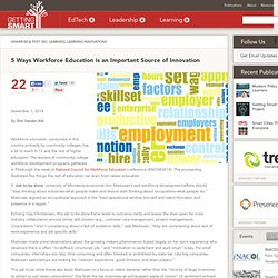 5 Ways Workforce Education is an Important Source of Innovation