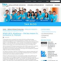 KPMG 2015: Workforce – the key reason to outsource to Vietnam