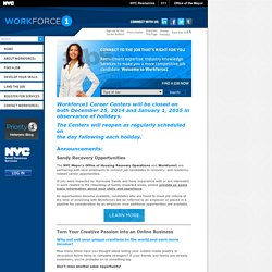Workforce1 - Job Opportunities and Expert Advice for New York City's Jobseekers
