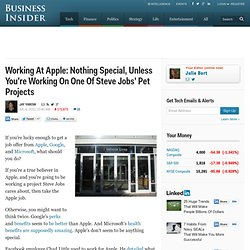 Working At Apple