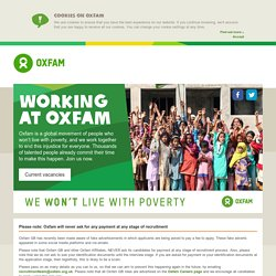 Working at Oxfam
