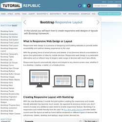 Working with Bootstrap 3 Responsive Layout