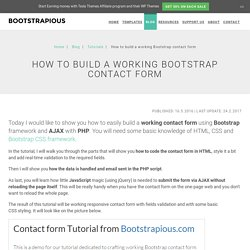 A Working Bootstrap Contact Form - Step-by-Step Tutorial