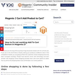 How to fix not working Add To Cart button in Magento 2