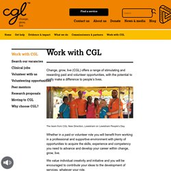 Working At CGL - CGL Jobs and Volunteering