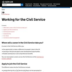 Civil Service recruitment