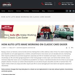 Auto Lifts Make Working on Classic Cars Easier in Your Workshop or Home Garages