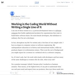 Working in the Coding World Without Writing a Single Line of It – Code Like A Girl – Medium