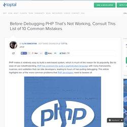 10 Common PHP Coding Errors