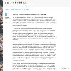 Working conditions in the global fashion industry