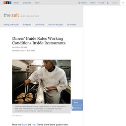 Diners' Guide Rates Working Conditions Inside Restaurants : The Salt
