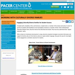 Working with Culturally Diverse Families - PACER Center
