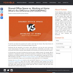 Shared Office Space vs. Working at Home What's the Difference [INFOGRAPHIC]