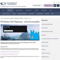 Working with Digimap - school examples