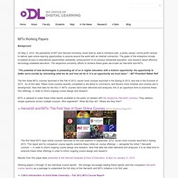 x Working Papers « Office of Digital Learning