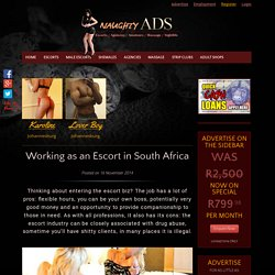 Working as an escort in South Africa, Escort Jobs