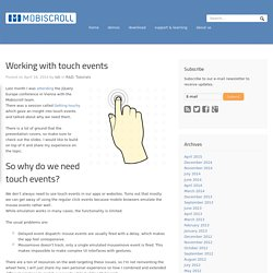 Working with touch events